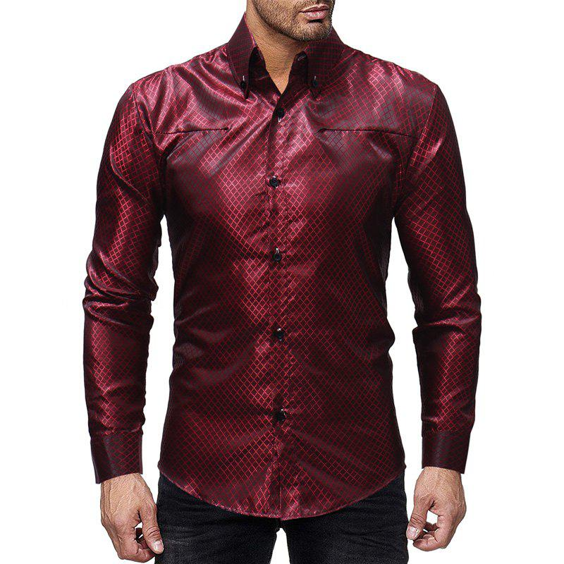 Discount Plaid Design Men's Casual Slim Long-sleeved Shirt