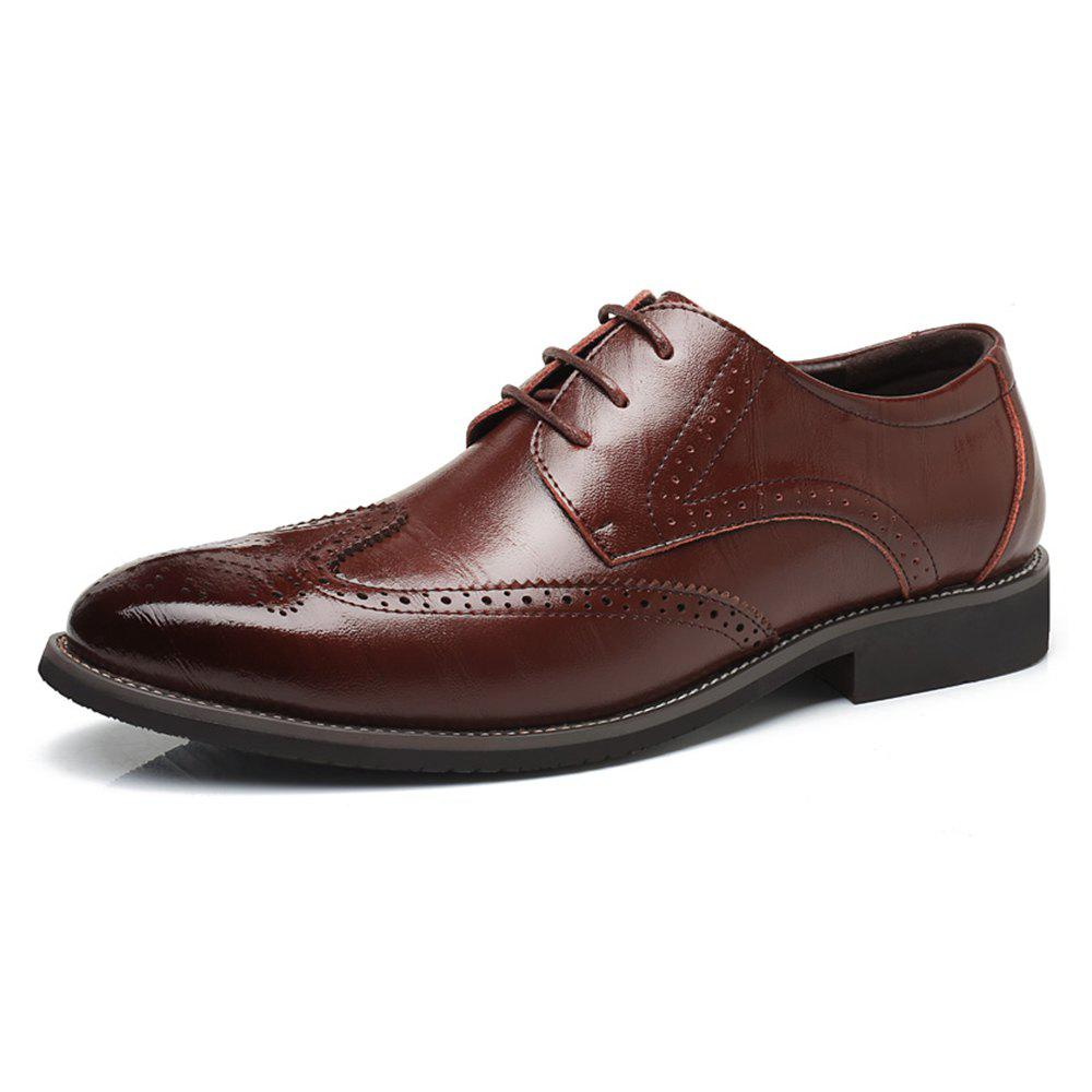 Outfit Men Increase The Size of Business Casual Shoes Leather Shoes Men'S Singles Shoes