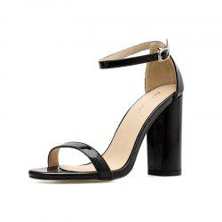 Women's Square Heel High Heels European Party Sandals -