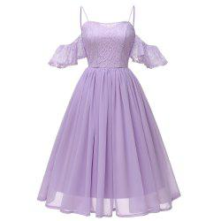 Sling Sexy Butterfly Sleeve Chiffon Dress -
