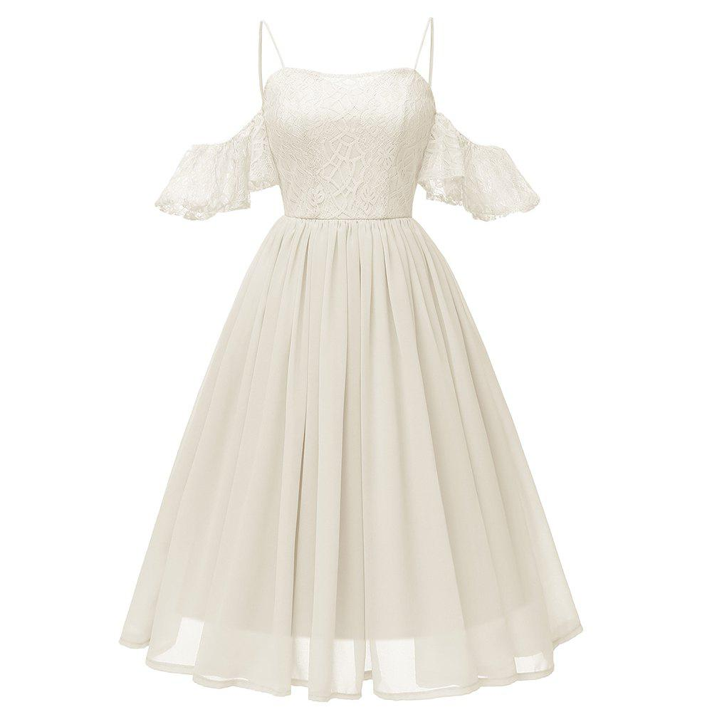 Unique Sling Sexy Butterfly Sleeve Chiffon Dress