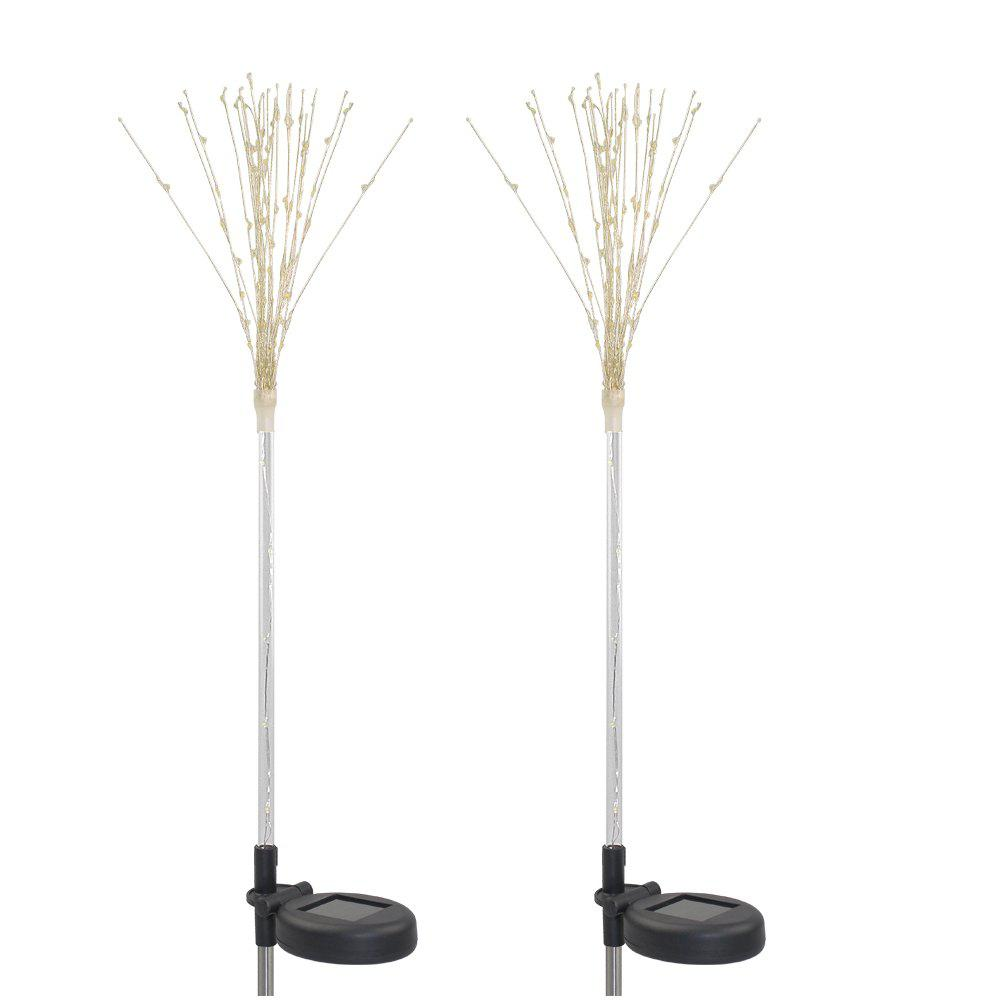 2 Pack 100-LEDs DIY Shape Fireworks Tree Солнечные лучи света Pathway Garden Lamp