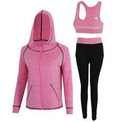3 Pcs Women's Sports Set Fashion All Match Comfy Yoga Fitness Clothing Set -