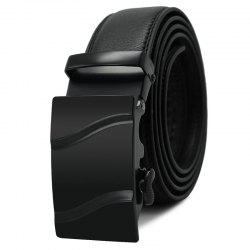 Men's Belt Trendy Automatic Buckle Solid Color Casual Accessory -