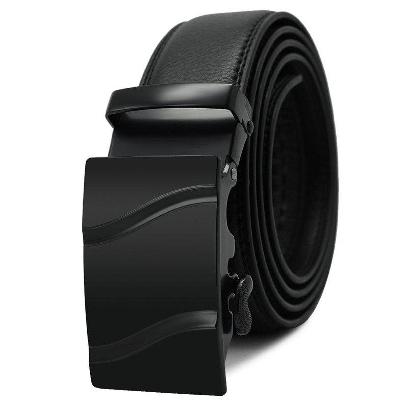 Buy Men's Belt Trendy Automatic Buckle Solid Color Casual Accessory