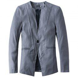 New Casual V-neck One Button Men's Suit -