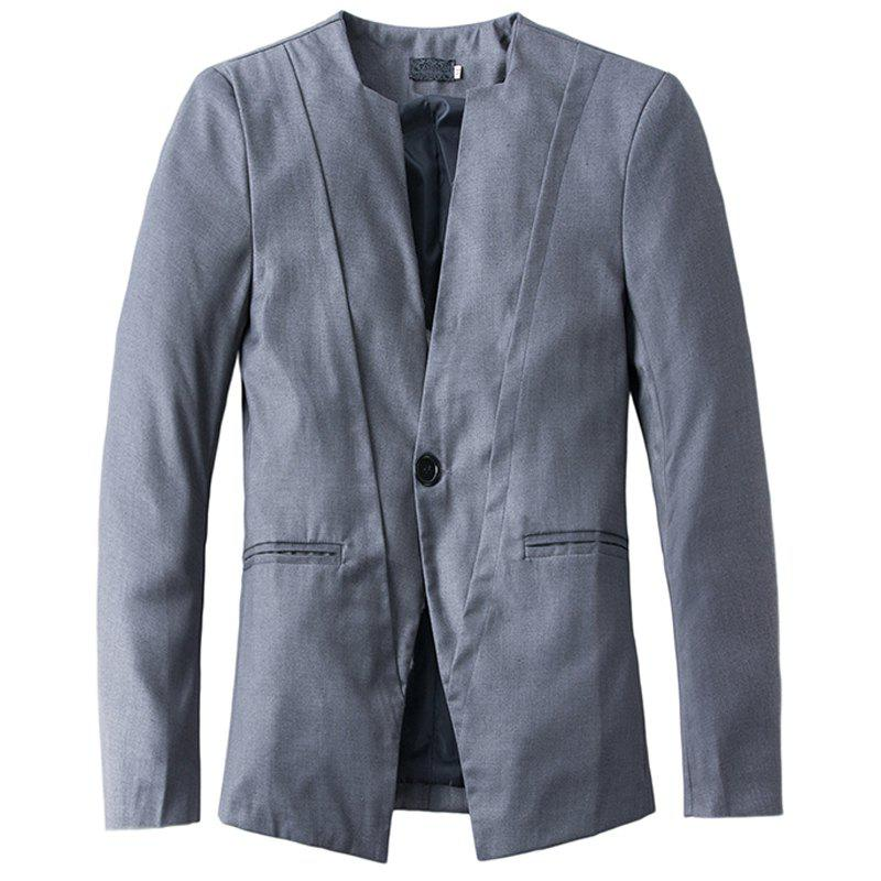 Online New Casual V-neck One Button Men's Suit
