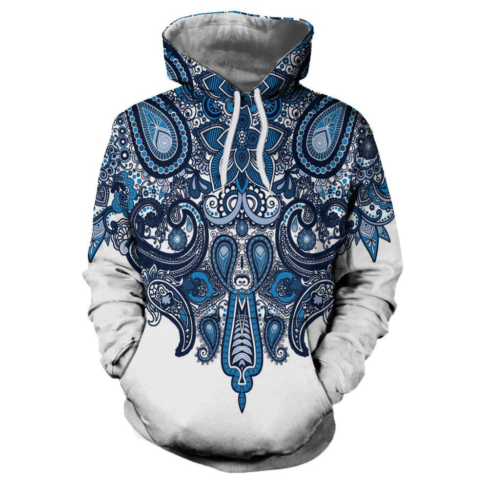 Trendy Casual Fashion Novelty 3D Printing Men New Hoodie