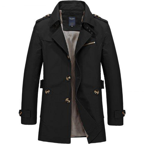 New Men's Fashion Casual Winter Slim Jacket Cotton Warm Coat