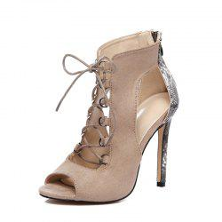 Women's Pointed Toe Stiletto High Heels Fashion Party Sandals with Checkered -