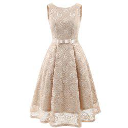 Autumn and Winter Women'S Dress Bow Lace Sexy Big Dress -