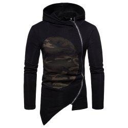 Man Sweater Leisure Time Hoodie Single Color Fashion Camouflage -