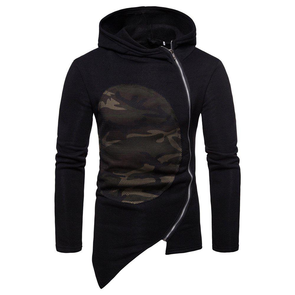 Shops Man Sweater Leisure Time Hoodie Single Color Fashion Camouflage