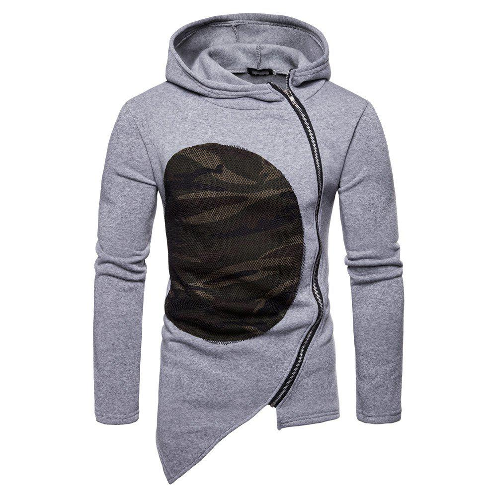 Cheap Man Sweater Leisure Time Hoodie Single Color Fashion Camouflage