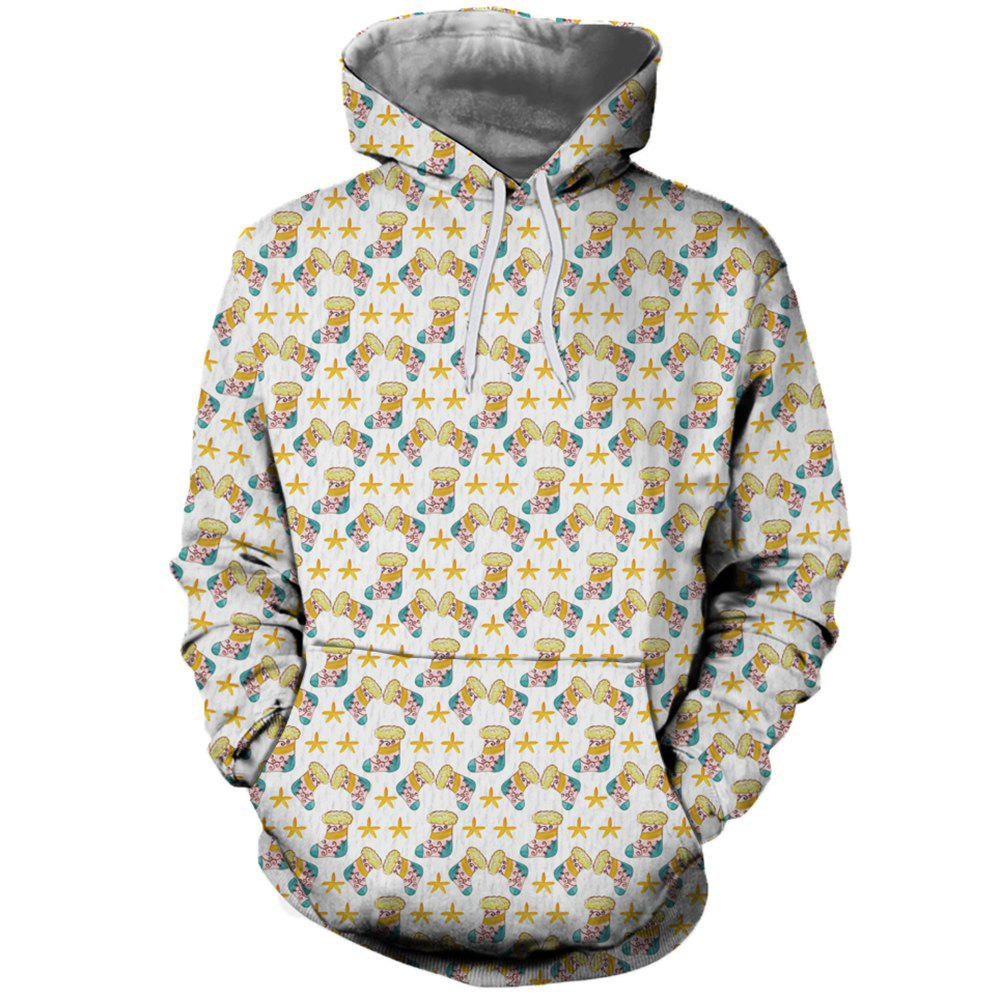 Outfit Fashion Men's Printed Socks Figure Hoodie