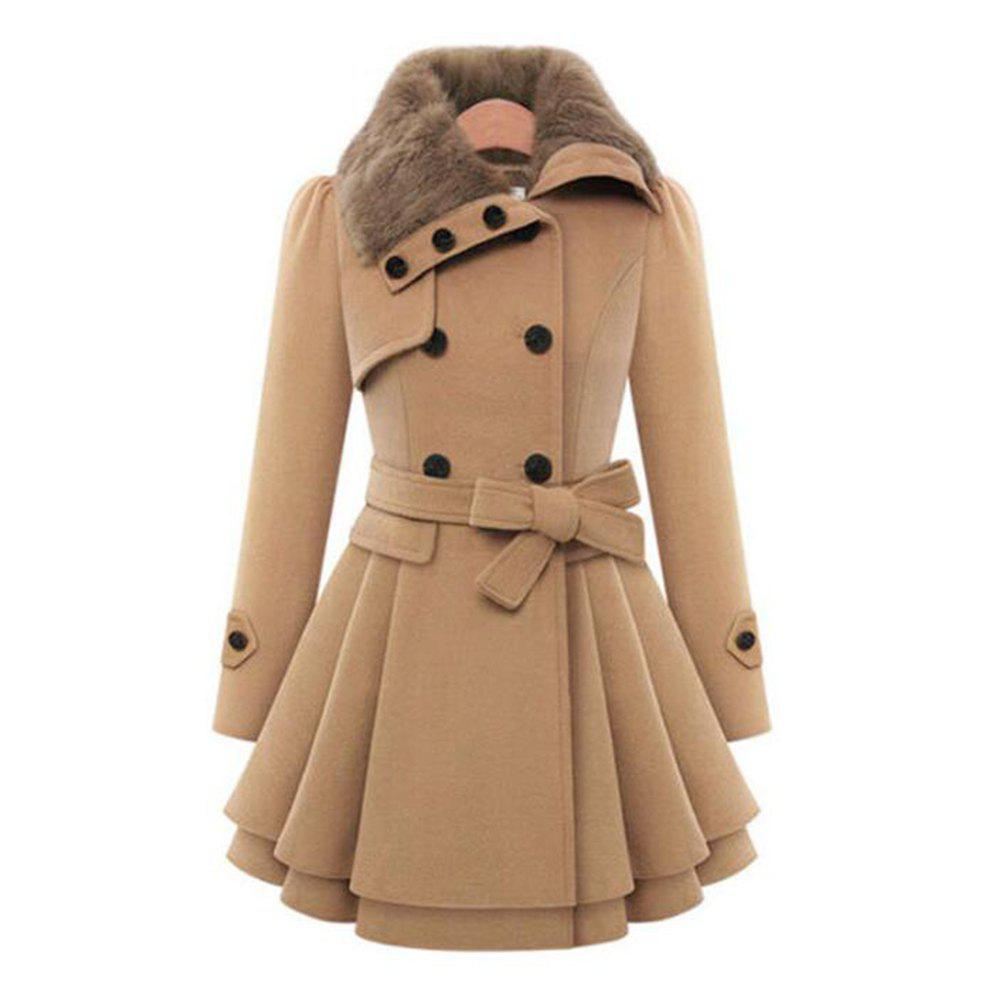 Store Ladies  big size fur coat  damp thick fur coat  windbreaker top