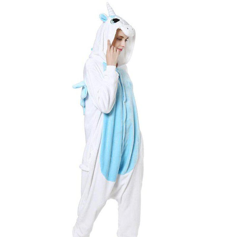 Trendy Kigurumi Pajama Licorne Cartoon Onesie Adults Unisex Flannel Animal Costume