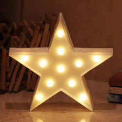 Star Lamp Room Decorations LED Night Light Battery Operated Table for Kids -