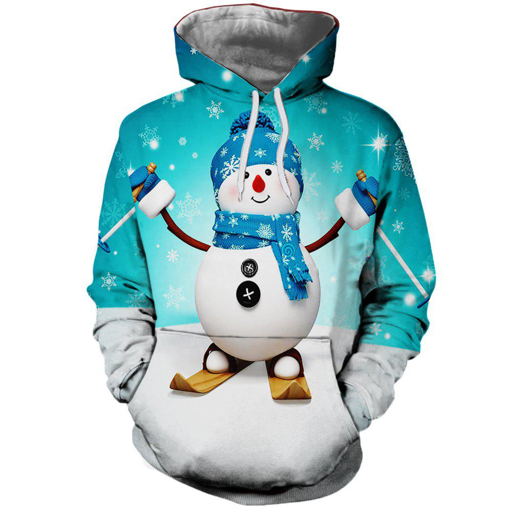 Outfit Cute Christmas Snowman Printed Autumn Winter Women's Hoodie