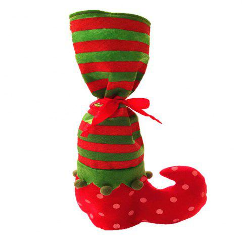 Point Stripe Christmas Stocking Candy Pouch Wine Bottle