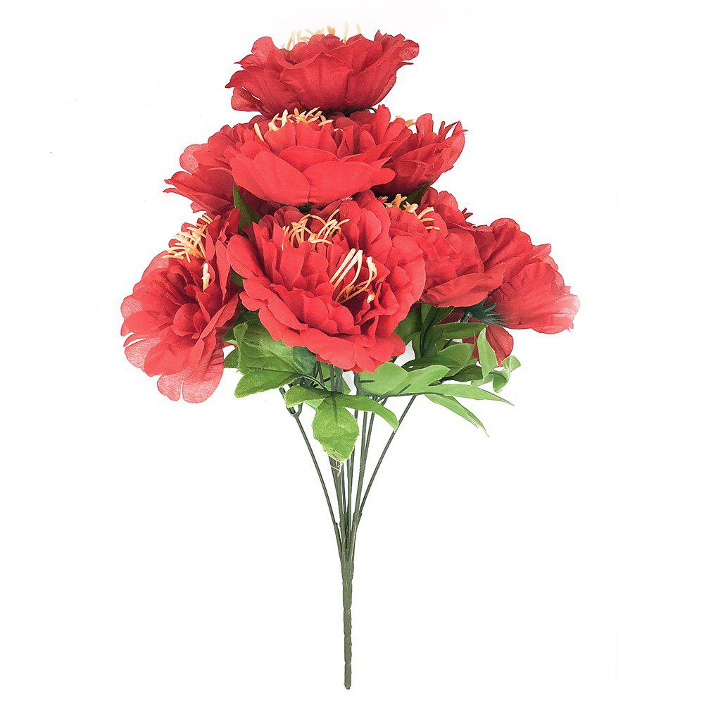 2018 10 Heads Silk Peony Flower Decoration Traditional Artificial