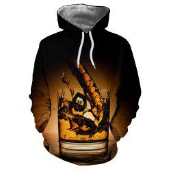 Men New Cup Fashion Casual 3D Printed Hoodie -