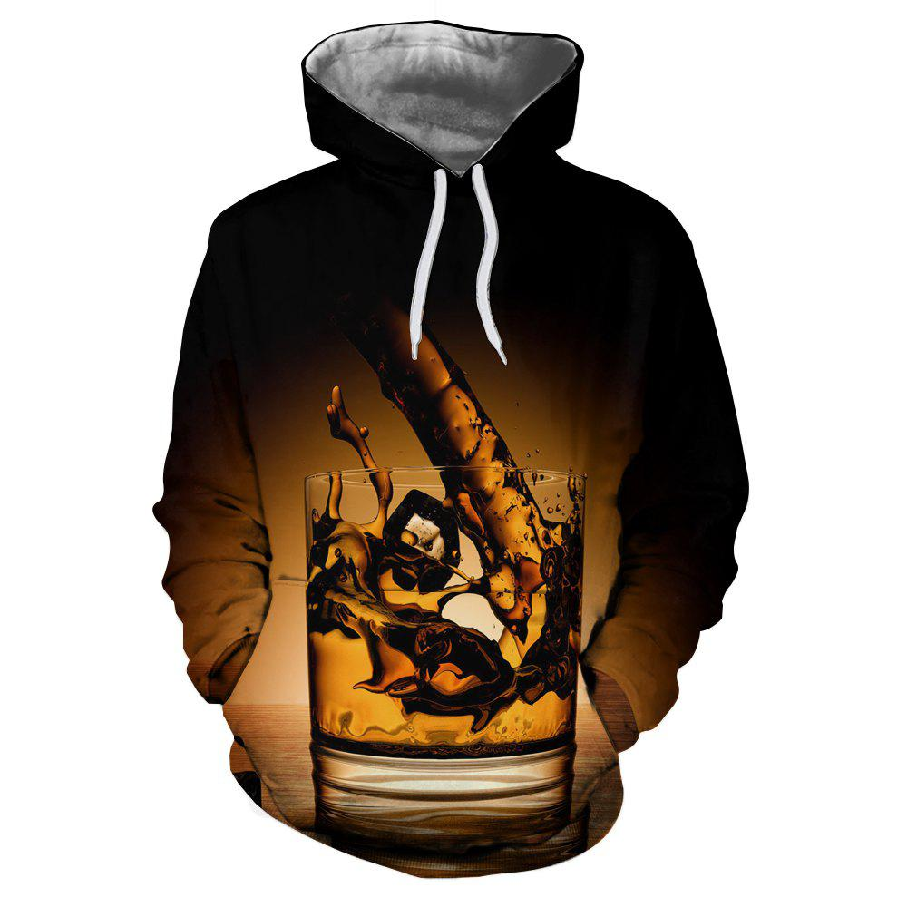 New Men New Cup Fashion Casual 3D Printed Hoodie