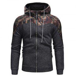 Men's Fashion Hat Rope Camouflage Long Sleeved Body Knitted Jacket -