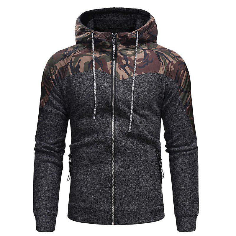 Cheap Men's Fashion Hat Rope Camouflage Long Sleeved Body Knitted Jacket