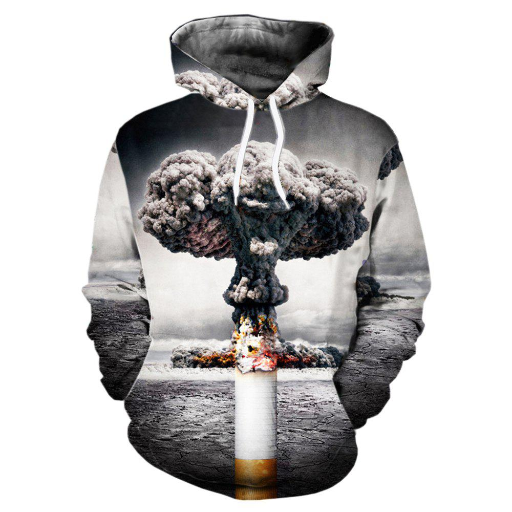 Unique Fashion Printed Men's Personality Hooded Sweater Clown Pattern