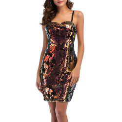 Women's Sexy Strap Bandeau with Sequins Slim Club Bodycon Dress -