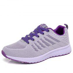 Women Breathable Lightweight Flying Woven Mesh Sports Running Shoes -