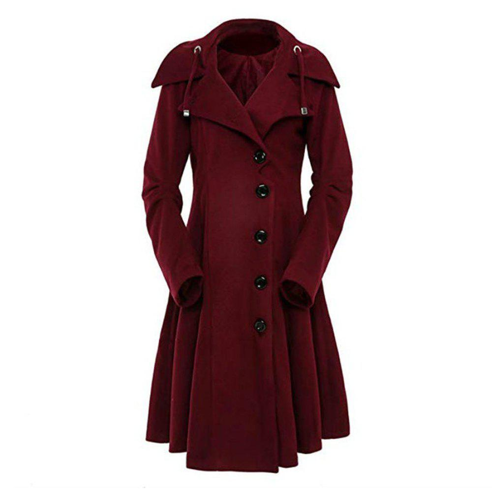 Store Autumn and Winter Turn Down Collar Women's Windbreaker Coat