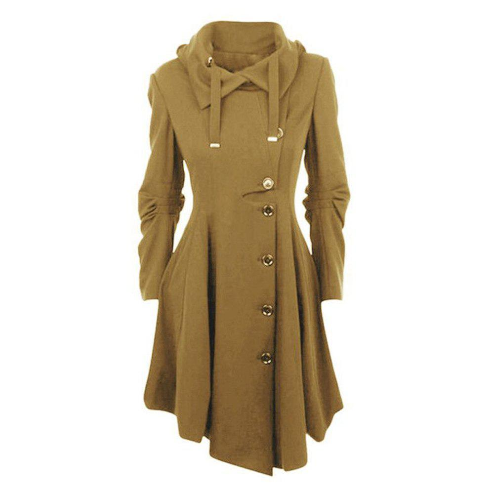 Shop Autumn and Winter Turn Down Collar Women's Windbreaker Coat