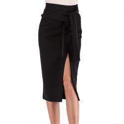 Tall Waist Belt of Cultivate One'S Morality Split Skirts -