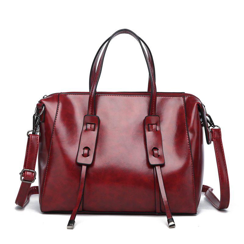 b17b3ea8ade2 Shops Leather Handbags for Women Large Capacity Casual Female Bags Trunk  Tote Shoulder