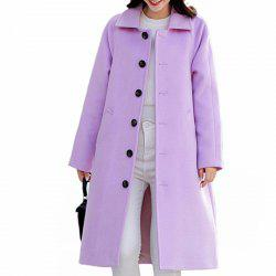 Women'S Single-Breasted Warm Double-Faced Fleece Houndstooth Cashmere Coat Woole -