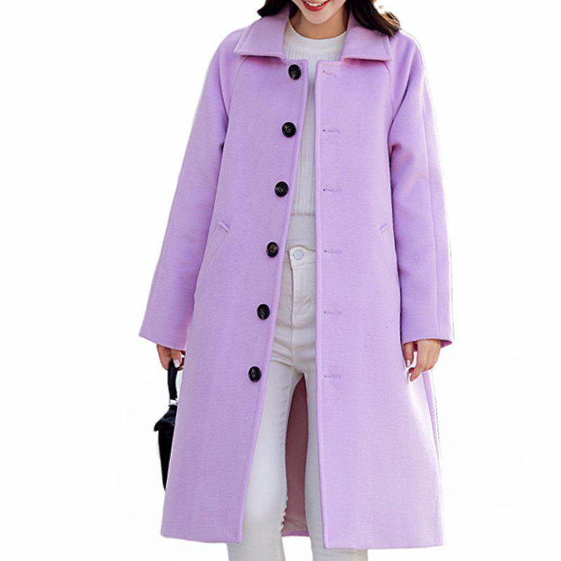 Fashion Women'S Single-Breasted Warm Double-Faced Fleece Houndstooth Cashmere Coat Woole