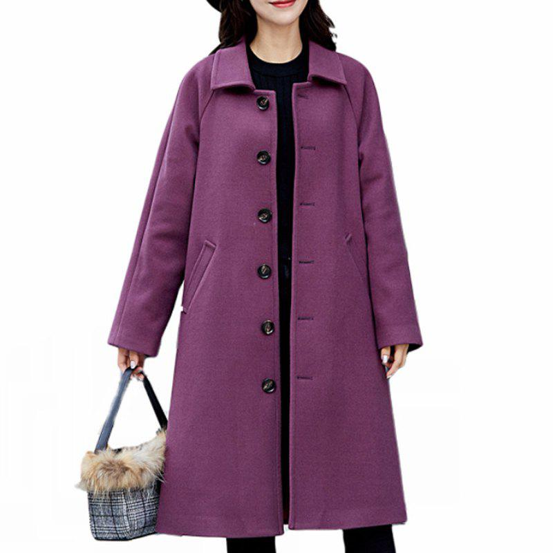 Store Women'S Single-Breasted Warm Double-Faced Fleece Houndstooth Cashmere Coat Woole