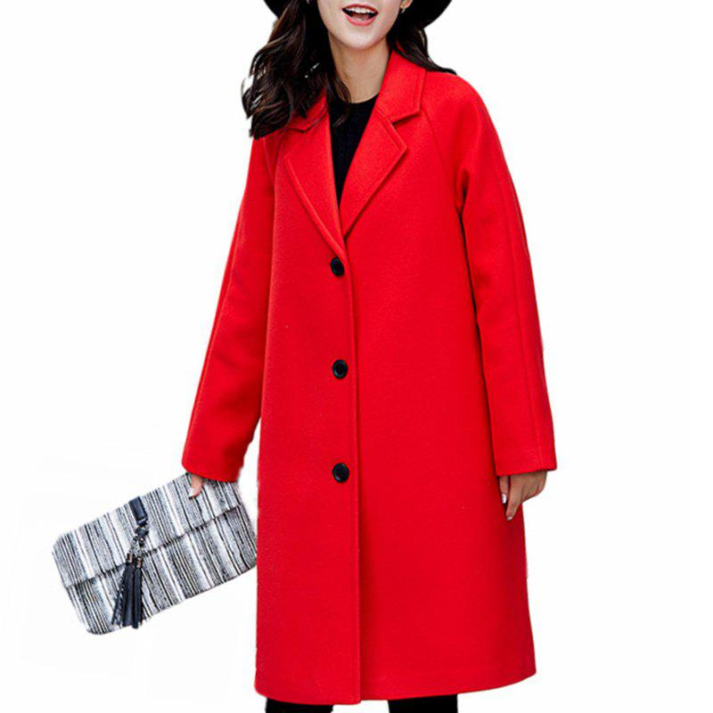 Fashion Women'S Single-Breasted Warm Double-Faced Fleece Houndstooth Cashmere Coat