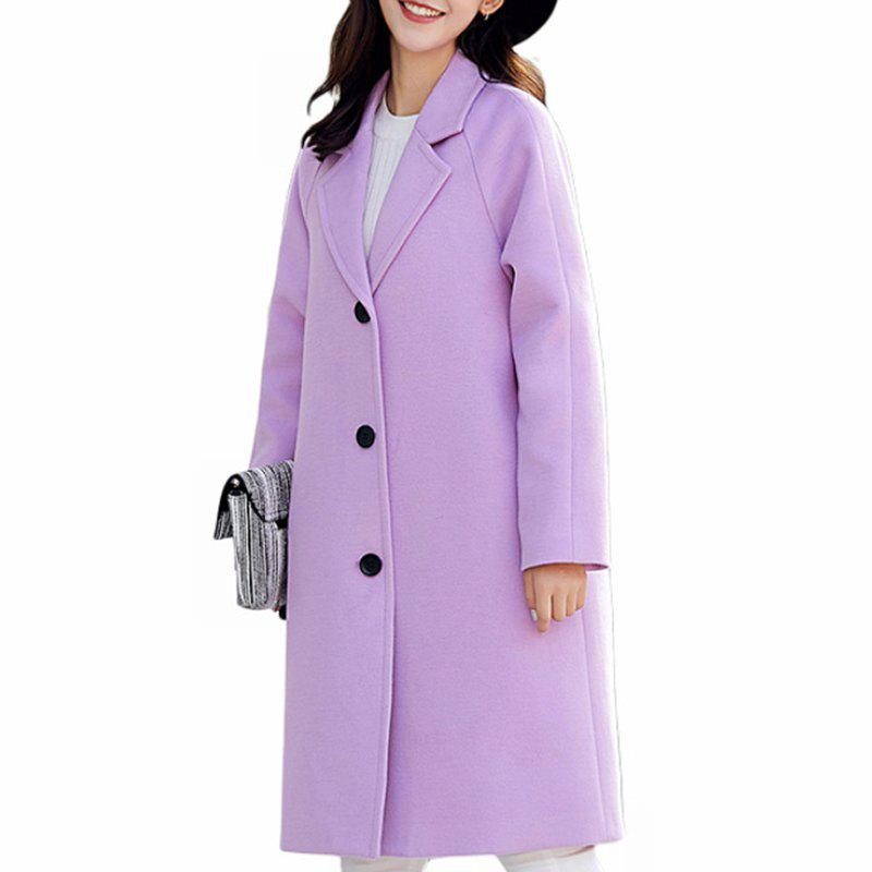 Latest Women'S Single-Breasted Warm Double-Faced Fleece Houndstooth Cashmere Coat