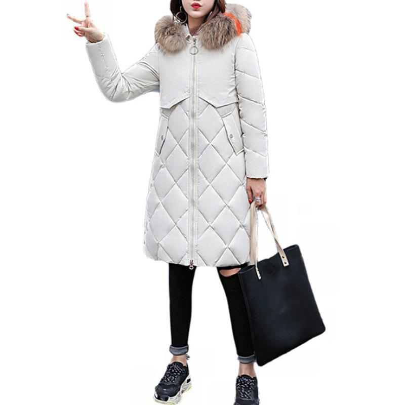 Fashion Women'S Winter Jacket Thicken Comfortable Zipper Cotton Coat