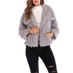 Ladies Short Fluffy Warm and Stylish Overcoat -