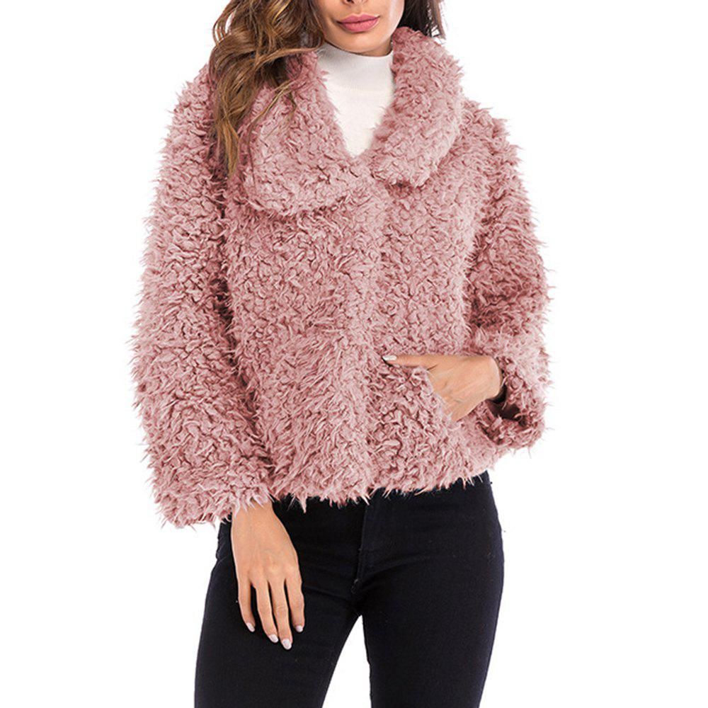 Unique Ladies Short Fluffy Warm and Stylish Overcoat