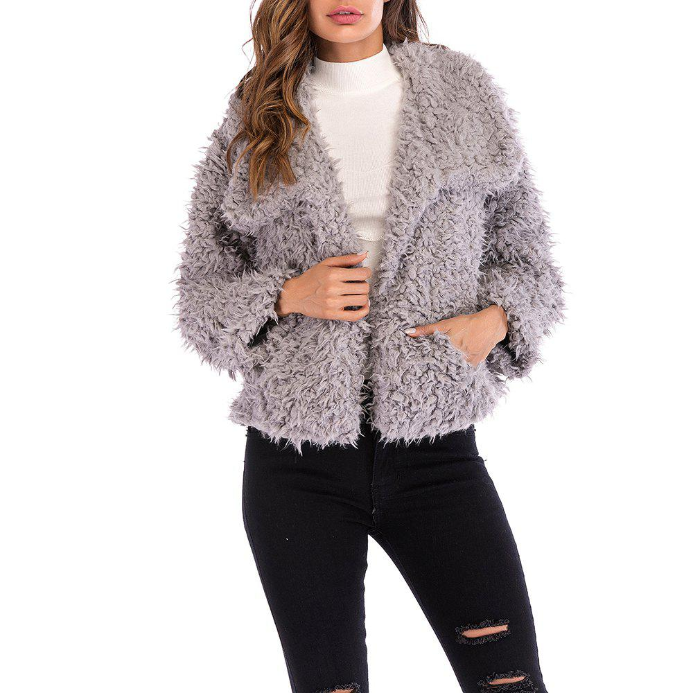 Outfits Ladies Short Fluffy Warm and Stylish Overcoat