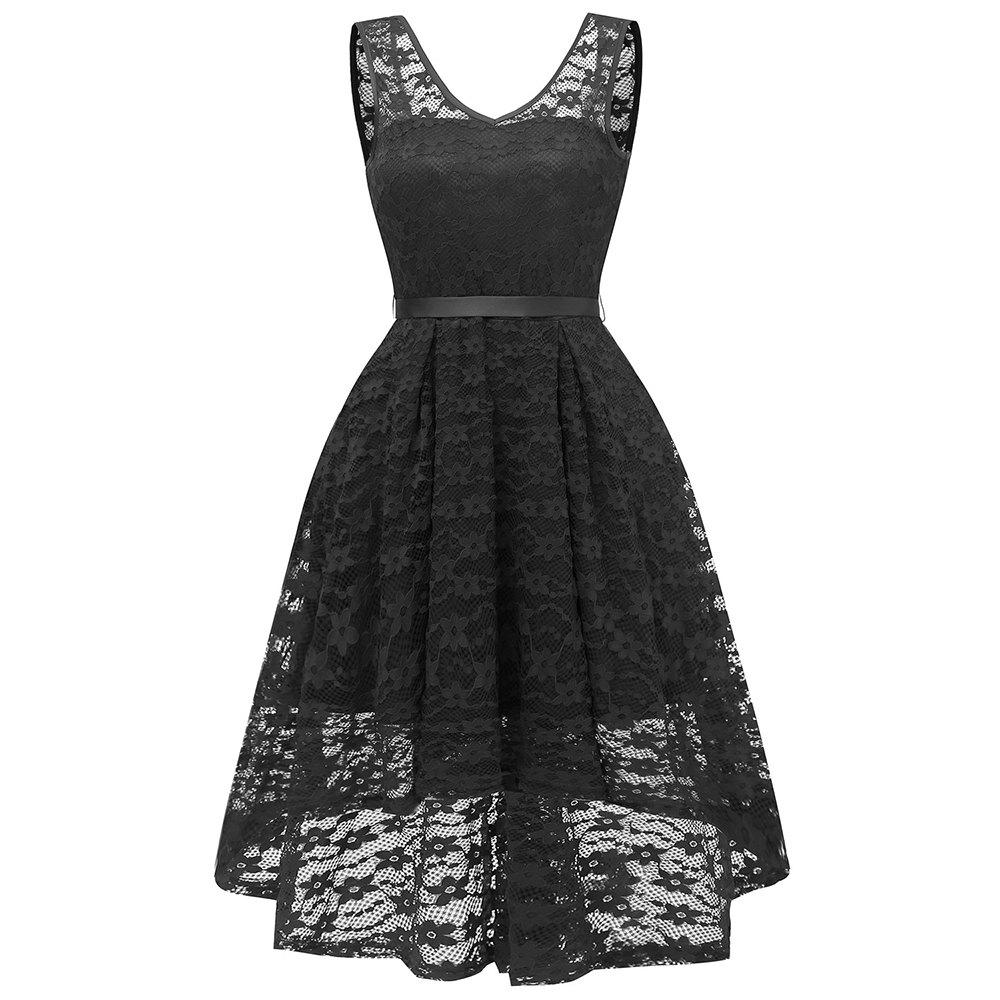 Buy Party Bridesmaid Swallowtail Lace Dress