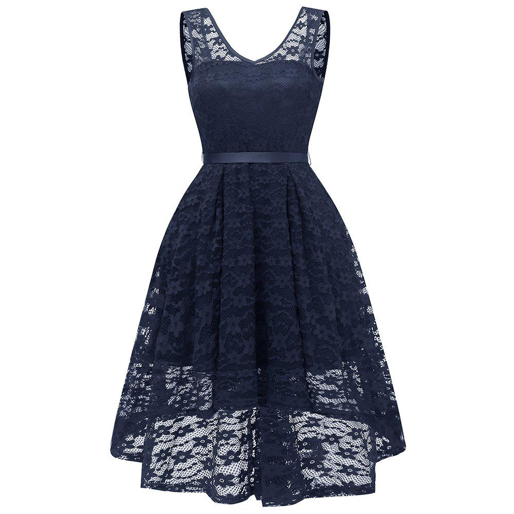 New Party Bridesmaid Swallowtail Lace Dress