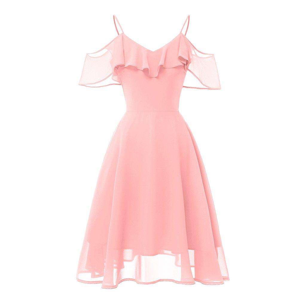 Outfit Word Shoulder Strap Chiffon Elegant Party Fairy Dress