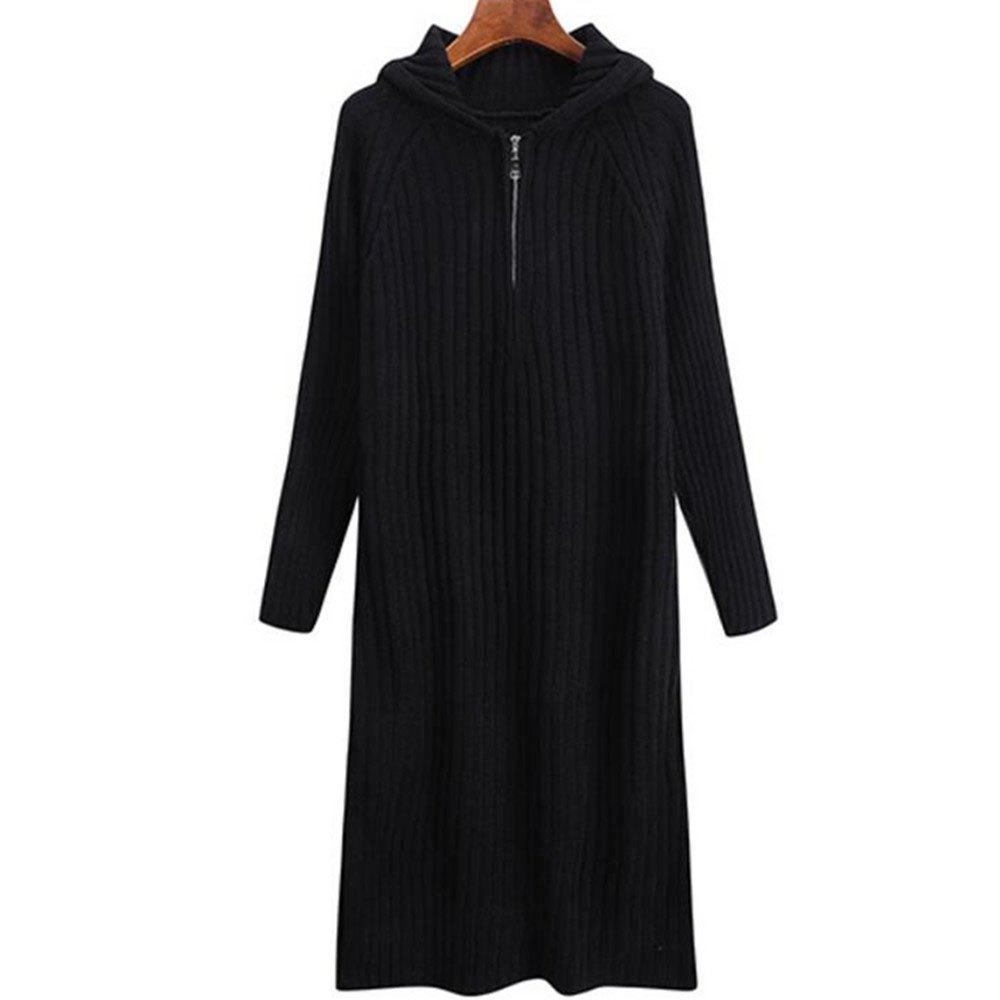 Robe pull femme à manches longues