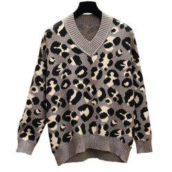 Women's Plus Size Round Collar Long Sleeve Casual Sweater -
